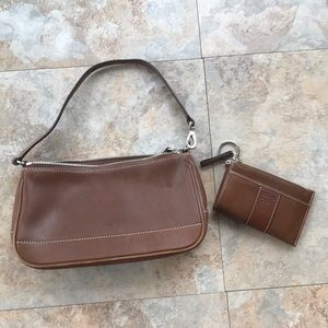 Handbags - Coach small brown leather purse with wallet